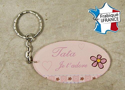 Porte Clef - Tata je t'adore (Cadeau anniversaire, noël, annonce de naissance ...)