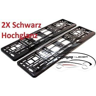 2 x Kennzeichenhalter / Nummernschildhalter / Kennzeichenhalterung NEU & OVP Schwarz Hochglanz