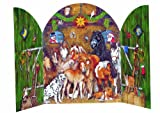 Alle meine Pferde: Adventskalender-Triptychon zum Aufstellen