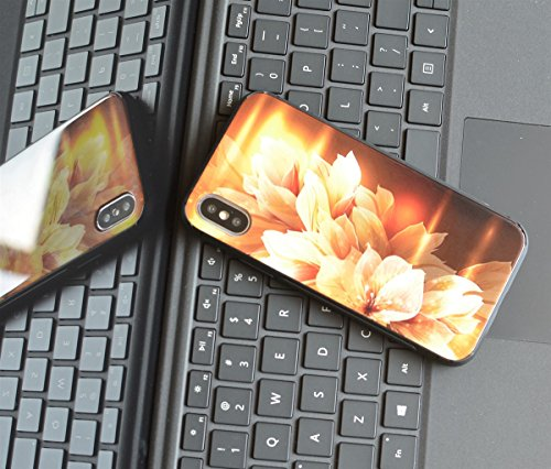 Custodia Iphone Nuova Custodia In Vetro Temperato Design Con 9h + Super Durezza, Forte Resistenza Agli Urti, Custodia Slim Cover Iphone X 2017 Supporta La Ricarica Wireless 28