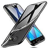 ESR Cover per Samsung Galaxy A5, Custodia Trasparente Morbida di TPU [Ultra Leggere e Chiaro] con Paraurti Placcati per Samsung Galaxy A5. (Nero)