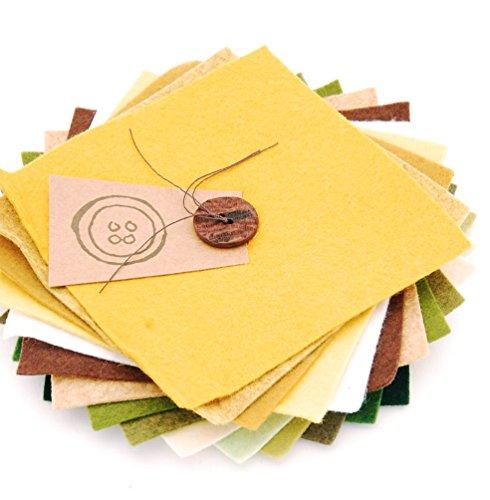 The Button Company Wollfilz-Quadrate im Set, 15x15x15cm, Vintage-Farben