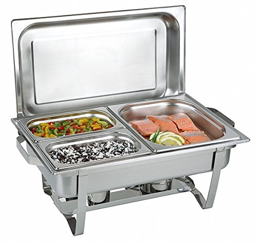 Twin Set 16 pièces Chafing Dish + 4 pâtes combustibles