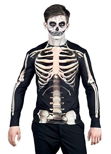 ealistisches Shirt Skeleton, Kostüme für Erwachsene ()