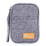 Timetries Multi-Functional Ticket Passeport Carte de crédit ID Document Organizer Holder Bag Sac à Main Travel Pouch Case Cover, Gris