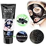 Mousand Blackhead Remover Maske, Peel Off Black Maske,Charcoal maske, Clear Pores & Akne, Aktivkohle Cleansing Removal Streifen Maske (BAmbusholzkohle)