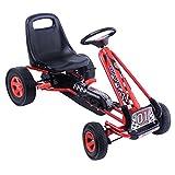 COSTWAY Gokart für Kinder   Go Cart   Tretauto Farbwahl   Tretfahrzeug   Pedalfahrzeug   Kinderfahrzeug (rot)
