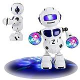 Omiky® Elektronische Walking Tanzen Smart Bot Roboter Astronaut Kinder Musik Licht Spielzeug (Blau)