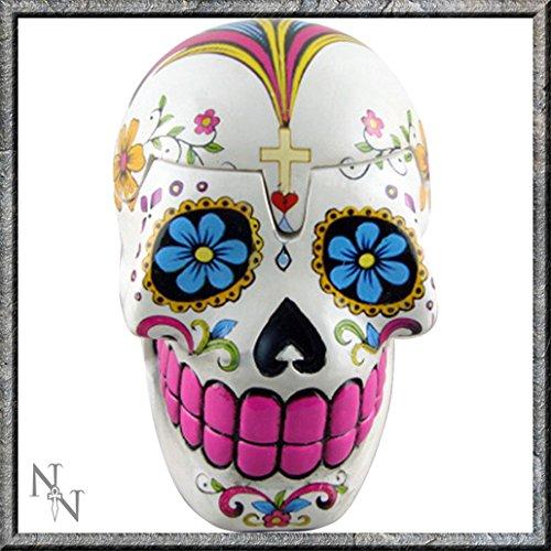 Sugar Skull Day of the Dead White portagioie 13cm Nemesis now