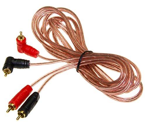 Adapter-Universe® Stereo Cinch Audio Kabel RCA Boxenkabel 3m Stecker für KFZ Car HiFi Endstufe (Car-audio-cinch-y-kabel)