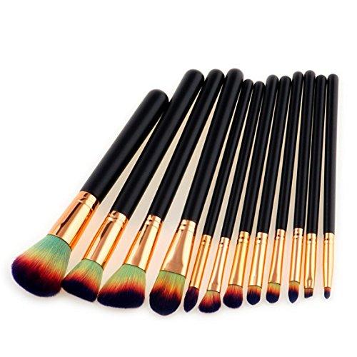 Neue Schatten (Neue 15 Stk ,18 Stk ,20 Stk Make-up Pinsel Set, Moonuy Make-up Augenbrauen Mascara Pinsel, Schwamm Pinsel, Smudge Pinsel Toilettenartikel Wolle Make Up Pinsel Set (A (12 Stk Set)))