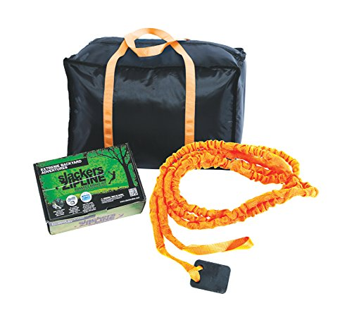 Slackers Zipline Deluxe bungeez Bremsen Kit, eine Größe, orange/schwarz (Zip-line-bremse)
