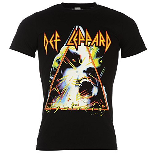 Official Def Leppard Hysteria T-Shirt, Men's Black. S to XL