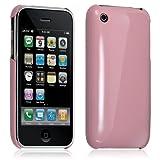 Housse étui coque rigide brillante pour Apple Iphone 3G/3GS couleur rose + film...