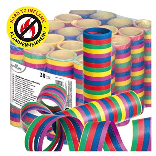 Susy Card 11138161 Luftschlangen, Streifen, Papier, 20 Stück