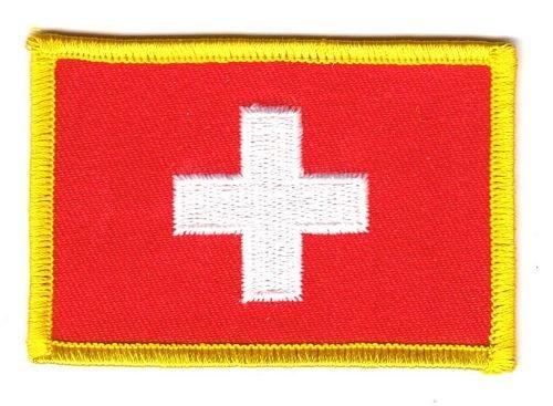 Flaggen Aufnäher Patch Schweiz Flagge Fahne NEU