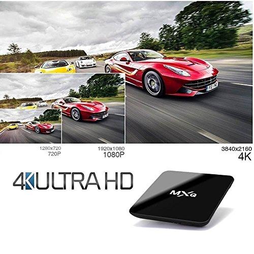Tonbux® MXQ Pro Android 6,0 Kodi TV Box mit Amlogic S905X Quad core Full Loaded KODI 16,1 (XMBC) mit Add-Ons 4K*2K Streaming Media Player + i8 Bluetooth mini Tastatur - 3