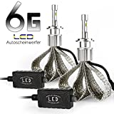 Afterpartz Autoscheinwerfer Umrüstkit 2 6 Gen. Auto LED Headlight Bulbs 60W 9000LM 6000K, H8 H9 H11