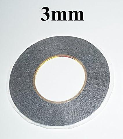 Ruban adhésif double face 3mm noir (50m de long) Original 3M