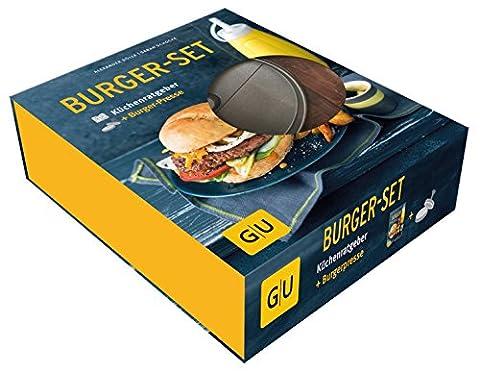 Burger-Set: mit antihaftbeschichteter Burgerpresse aus Aluguss (GU BuchPlus) (Burger Bar)