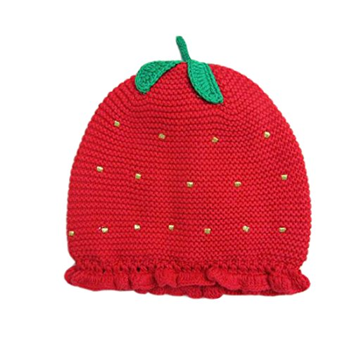 ACVIP Baby Winter Mütze Rote Erdbeere Mädchen Strickmütze Kinder Warme...