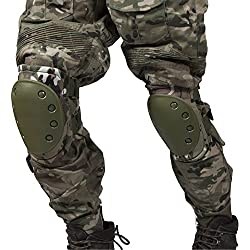 Airsoft táctico ajustable de la rodilla del codo almohadillas protectoras Conjunto de protección de engranajes Deportes Caza de ratón Shooting Ejercito (Color1)