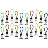 com-four® 20x Handtuchhalter-Clips, Handtuchhaken aus Metall, in 5