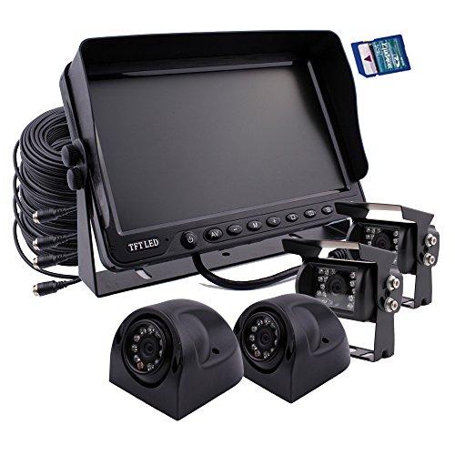 Zhiren - Sistema cámara seguridad coche, monitor