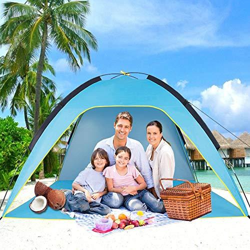 Sumerice Family Tente de Plage et Pare-Soleil UV Cabana Abri pour Camping, randonnée, pêche - Léger, Portable, Respirant et Coupe-Vent - Pliable, Bleu