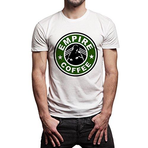 Star Wars Starbucks Empire Coffee The Emperor Herren T-Shirt Weiß