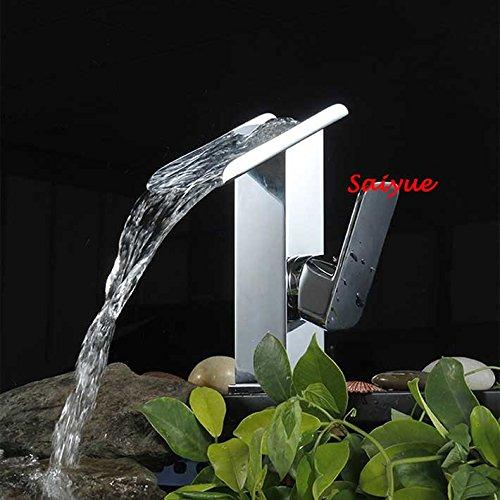 Maifeini Moderne Wasserfall Auswurfkrümmer Einhebelsteuerung Waschbecken Armaturen Square Klicken Sie Auf Verchromten Messing Fett -