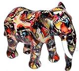 Toller bunt bemalter Elefant als Spardose - Keramik - 22x15x16 cm