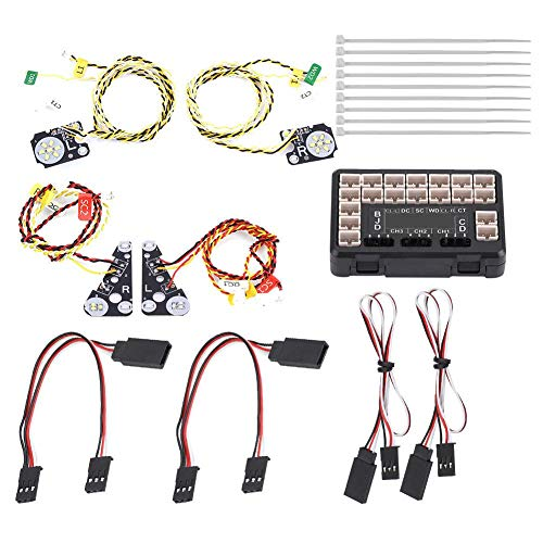 Dilwe RC LED Luz, RC Modelo LED Luces Set Grupo de Lámparas para Traxxas TRX-4 Crawler Car