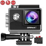 Campark X15 4K Action Cam Touchscreen EIS Stabilisierung WiFi wasserdichte Unterwasserkamera 30m Helmkamera 16MP mit 170 ° Ultra-Weitwinkel und viel Zubehör Kompatibel mit gopro