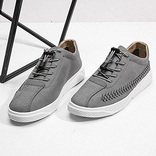 Ben Sports Hombre Calzado deportivo de skateboarding para hombre Zapatillas Zapatos de cordones skate de hombre gris