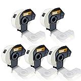 5x Kompatible Etiketten-Rollen für Brother P-Touch DK-11203 P-Touch QL 580 Series P-Touch QL 650 TD P-Touch QL 700 P-Touch QL 710 W P-Touch QL 720 NW DK11203 DK 11203 17x87 mm Büro Eco Serie