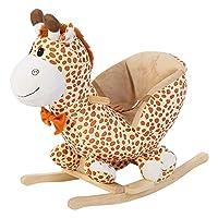 Children Kids Rocking Horse Chair Toys Plush Deer Rocker Seat Gift