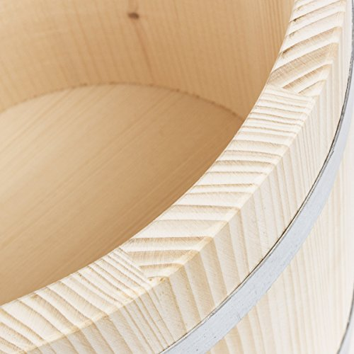 7 Liter Holz Saunakübel Saunaeimer Aufgusseimer Aufgusskübel -