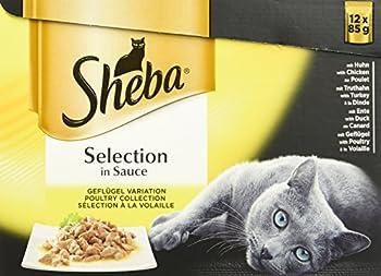 Sheba Aliments pour Chat Sélection en Sauce/Nourriture Humide de Haute qualité sans colorants ni Agents conservateurs artificiels