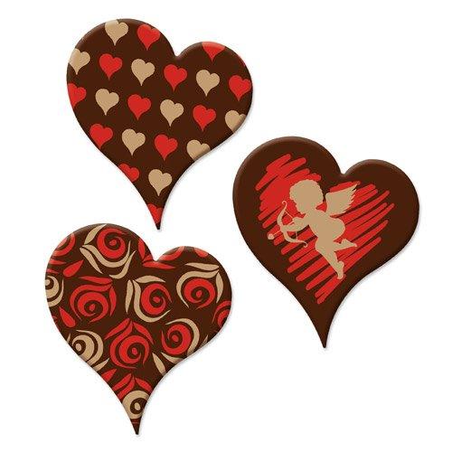 Mit Herzen Roten Schokolade Dunkle (Herzen, dunkle Schokolade)