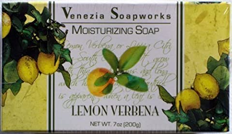 2 Bar Set Venezia Soapworks Moisturizing Soap Lemon Verbena - 7 Ounces Each by Kodiake