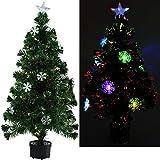 künstlicher Weihnachtsbaum mit bunter Beleuchtung und Schneeflocken mit Größenauswahl (60 cm)