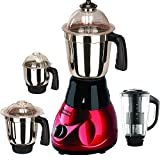 #9: SilentPowerSunmeet Mrf Metallic 750 Watts 4 Jar Mixer Grinder (Red)