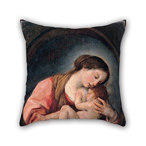 uloveme pintura al óleo Giovanni Bonati-Madonna con el niño-Fundas de cojín 18x 18pulgadas/45por 45cm mejor opción para su, sala de estar, Pub, Bar asiento, San Valentín, silla con cada lado