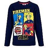 Feuerwehrmann Sam Langarmshirt Jungen Rundhalsausschnitt (Blau, 92-98)