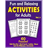 Fun and Relaxing Activities for Adults Volume 3: Puzzles for People with Dementia [Large-Print] (Best Gifts for People…