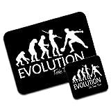 Evolution Of A Table Tennis Player Premium Mousematt & Coaster Set