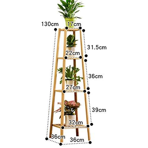 LWJJHJ massiv Holz Blumenregal natur Bambus Blumenregal Mehrstöckig Blumenständer aus Bambus Küchenregal (Design : C)