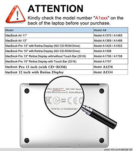 51H%2BIZ3RKeL - AQYLQ Funda Dura para MacBook Air 13 Pulgadas (A1369 / A1466), Ultra Delgado Carcasa Rígida Protector de Plástico Cubierta - Disney Mickey
