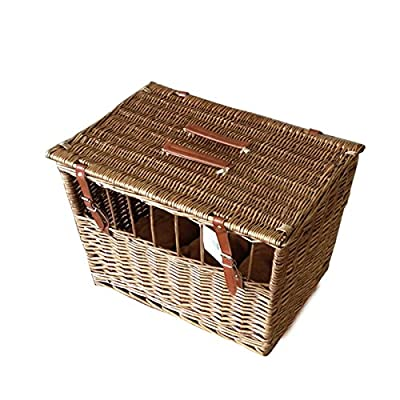 Wicker Pet Carrier for cat, dog, Moden design with windows UK2371 from Easyuk